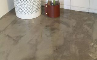 changing up an orange formica countertop with concrete, concrete masonry, countertops, kitchen design, Finished result