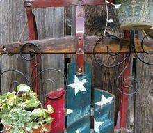 patriotic sled planter, container gardening, gardening, patriotic decor ideas, repurposing upcycling, seasonal holiday decor