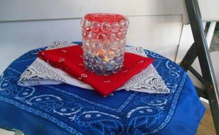 patriotic gem lantern, outdoor living, patriotic decor ideas, seasonal holiday decor