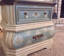 bombe nightstands, bedroom ideas, painted furniture, painting wood furniture