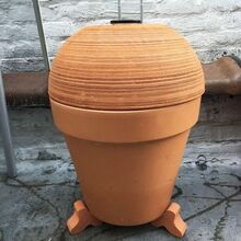 terra cotta pot smoker, appliances, concrete masonry, crafts, gardening, go green, outdoor living, plumbing, tools