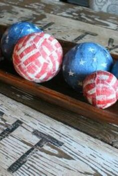 4th of july table centerpiece, crafts, decoupage, patriotic decor ideas, seasonal holiday decor