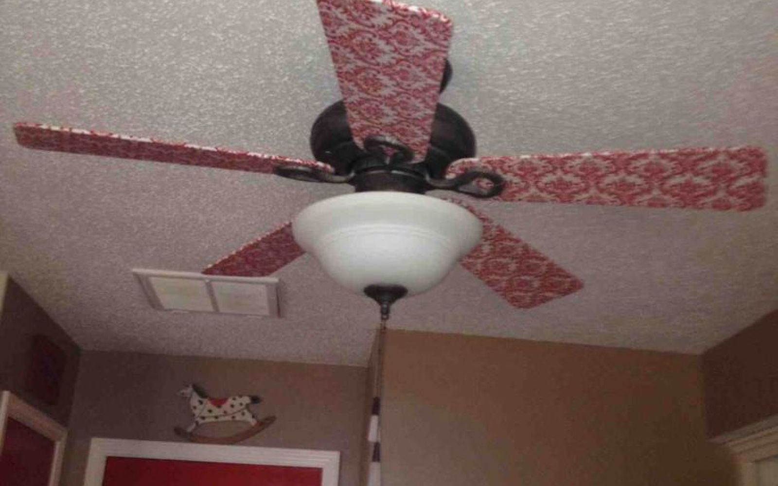 s 13 ways to upgrade your boring ceiling fan on a budget, appliances, wall decor, Use fabric to give old blades a classy touch