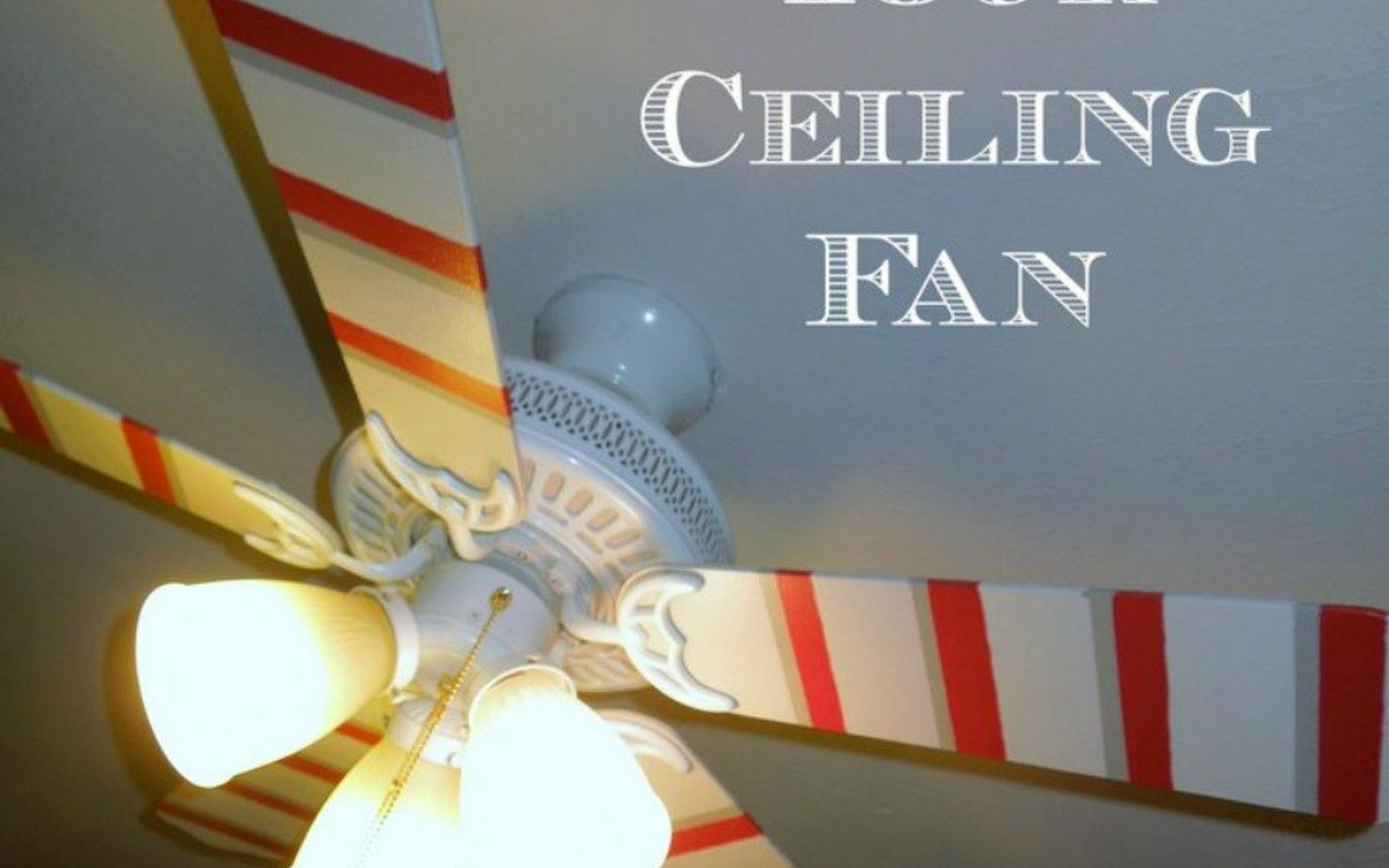 s 13 ways to upgrade your boring ceiling fan on a budget, appliances, wall decor, Paint bold stripes onto each blade