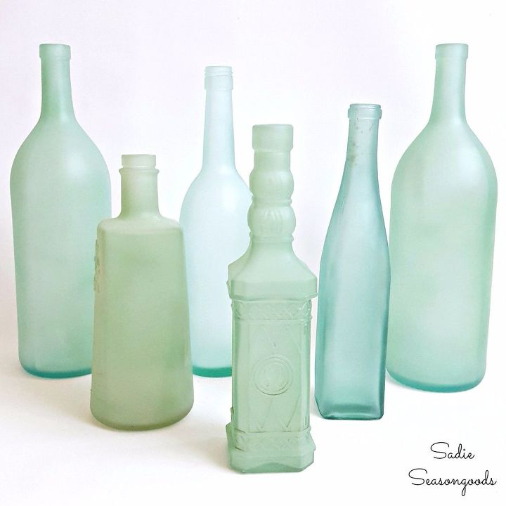 Diy Sea Glass Bottles For Summer Coastal Decor Crafts Home Decor Repurposing Upcycling