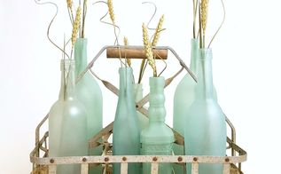 diy sea glass bottles for summer coastal decor, crafts, home decor, repurposing upcycling, seasonal holiday decor