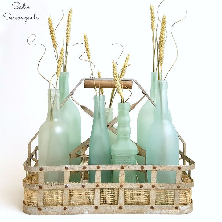 Diy sea glass bottles for summer decor hometalk for Summer beach decor