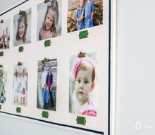 diy personalized photo display, crafts, painting, wall decor