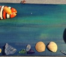 rocking pebble art with painted fish, crafts, home decor, wall decor