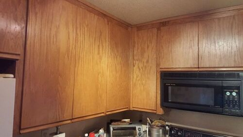 What is the best painting method for these cabinets hometalk for Best method for painting kitchen cabinets