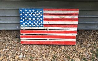 obsessed with the fourth of july and flags , crafts, how to, pallet, patriotic decor ideas, seasonal holiday decor, My Fourth of July flag