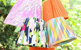 no sew easy pleated lampshades, crafts, home decor, how to, reupholster