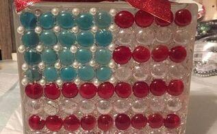 i usa , patriotic decor ideas, seasonal holiday decor, Americana glass block