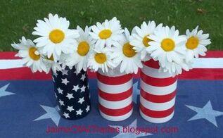 last minute diy patriotic centerpiece, crafts, patriotic decor ideas, seasonal holiday decor