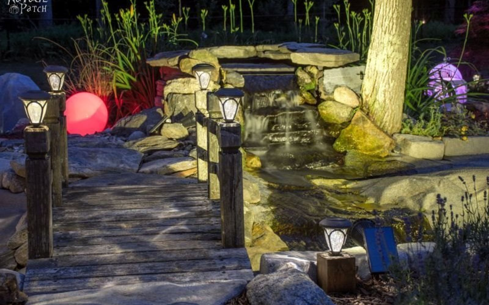 s wait they did what in their backyard , outdoor furniture, outdoor living, Set up your own bubbling pond waterfall