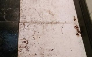 q fixing uneven spots under vinyl tiles on a kitchen floor, flooring, home maintenance repairs, kitchen design, major home repair, tiling, Floor under tile