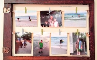 diy rustic photo collage display, crafts, how to, repurposing upcycling, wall decor