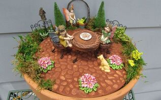 clay pot fairy garden , crafts, gardening, how to