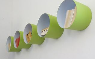 turn old buckets into wall shelves, repurposing upcycling, shelving ideas, storage ideas