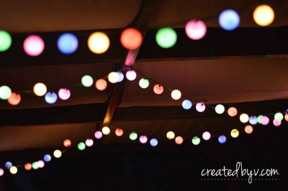 make colorful globes with ping pong balls - Home Decor Lights
