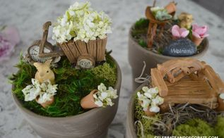 making a windowsill fairy garden, crafts, gardening