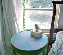 hand painted side table, chalk paint, painted furniture