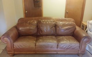 q help me with this leather couch , cleaning tips, fabric cleaning, furniture cleaning, furniture repair, painting upholstered furniture