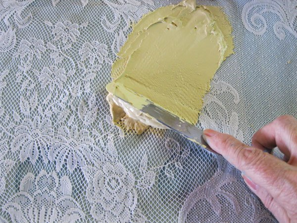 Chalk Paint Fabric Lace Art