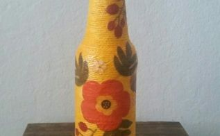 recycle used beer bottes, crafts, decoupage, how to, repurposing upcycling