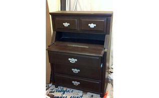 old chest of drawer recreated into a secretary desk, painted furniture, repurpose household items, tools, woodworking projects