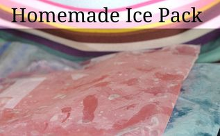 homemade ice pack, crafts, how to