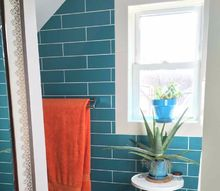 bright turquoise bathroom, bathroom ideas, home decor