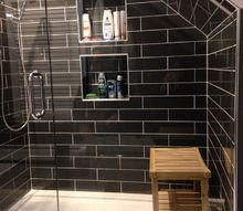 modern designer bathroom renovation, bathroom ideas, home decor, tiling