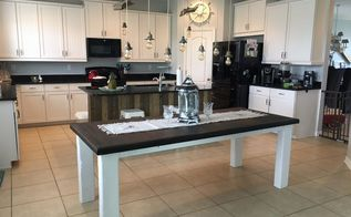 kitchen island makeover diy barn wood , how to, kitchen design, kitchen island, rustic furniture