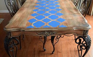 furniture stencils can revive an old table, diy, home decor, painted furniture, painting