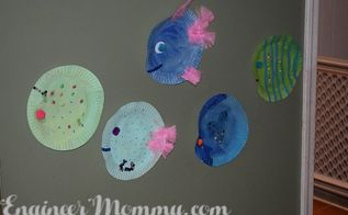 paper plate fish, crafts, how to