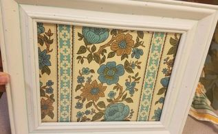 repurposing vintage wallpaper, crafts, painting, wall decor