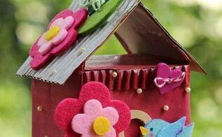 decorative birdhouses using tetra pak cartons, crafts, home decor, repurposing upcycling, seasonal holiday decor, Repurposed Tetra Pak