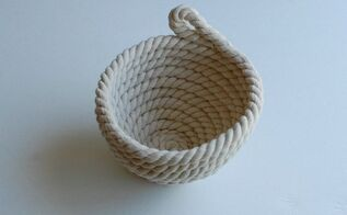 easy diy no sew rope bowl, crafts