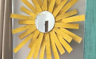 sunshine mirror wall decor, crafts, repurposing upcycling, wall decor