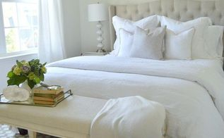 creating an inviting guest retreat with an all white bedroom, bedroom ideas