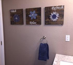 Diy Bathroom Wall Art String Art To Add A Pop Of Color , Bathroom Ideas, Part 41