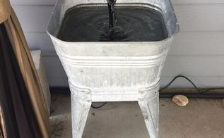 easy and inexpensive water fountain feature, how to, outdoor furniture, outdoor living, ponds water features
