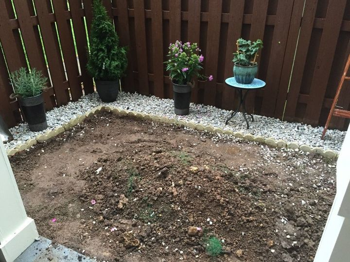 Backyard makeover diy landscaping project hometalk for Diy backyard pool landscaping