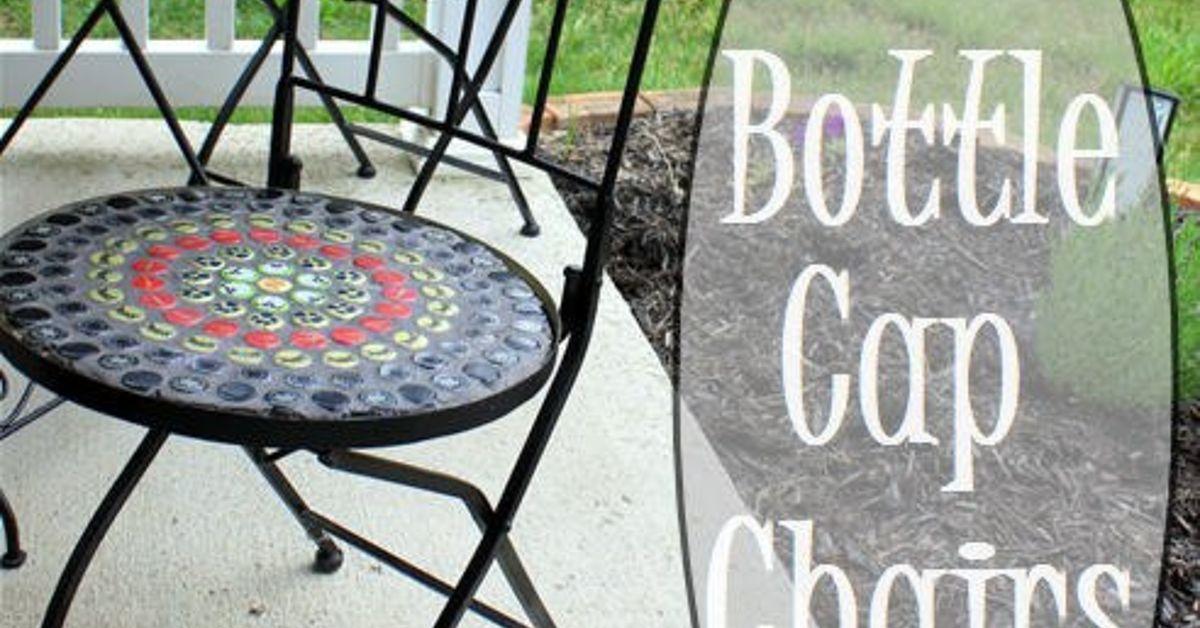 Bottle Cap Mosaic Chairs