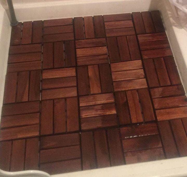 ikea spa shower floor hack, bathroom ideas, flooring, spas - IKEA Spa Shower Floor HACK Hometalk