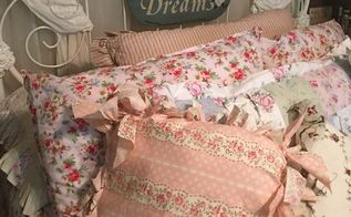 no sew pillow tied and true, crafts, how to, reupholster, CALICO AND ROSES