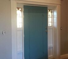 front door makeover, doors, painting, woodworking projects