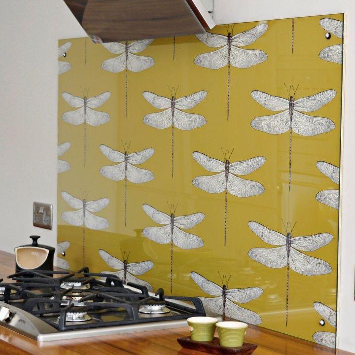 Kitchen Wallpaper Decor: DIY Splashback (Backsplash) With Wallpaper