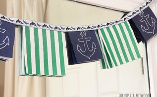 easy and inexpensive tutorial for a nautical paper garland, crafts, how to